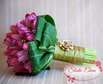Весільний букет з тюльпанів - Кейлі