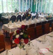 Свадебное украшение зала — Рубин
