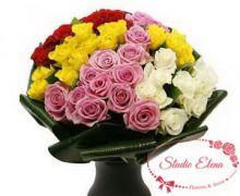 Ассорти роз напоминающие времена года