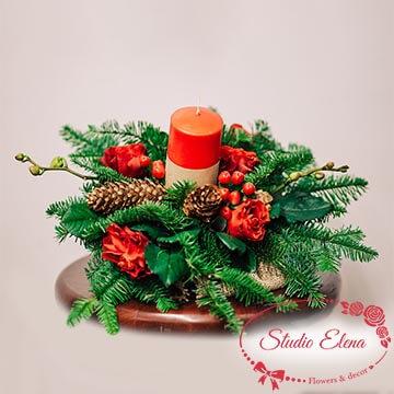 Украшение рождественского стола — Вечеря с Бруний и Эльторо