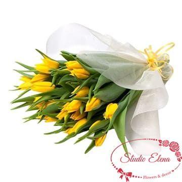 Жовті тюльпани в букеті - Весняний настрій