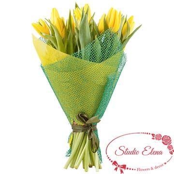 Тюльпаны в красивом букете — Мохито