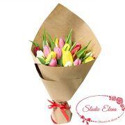 Тюльпаны в бумаге крафт — Сплеск эмоций