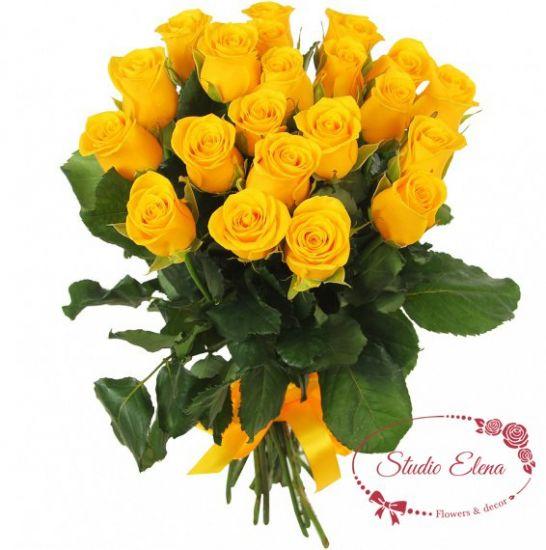 Яркий букет роз — Солнышко