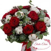 Красно-белый букет — Зимняя ягода